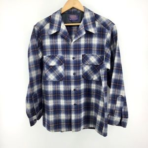 Pendleton | 100%  Virgin Wool Flannel Board Shirt
